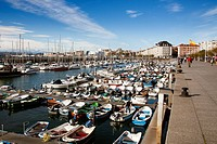 Fishing boats in Marina Puerto Chico, Santander, Cantabria, Spain