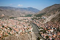 view of amasya, anatolia, turkey, asia