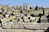 View of Amman downtown from the Citadel  Jordan
