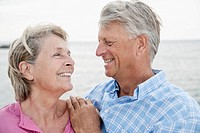 Spain, Senior couple smiling, close up (thumbnail)