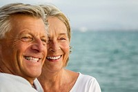 Spain, Senior couple at the sea