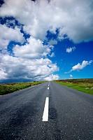 Road across Dartmoor, Devon, England, United Kingdom, Europe