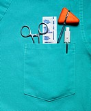Medical Scrubs Pocket with Tools of Trade