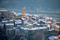 village of Gattières, Var valley, Alpes-Maritimes, 06, PACA, France.