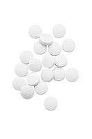 White medicinal pills