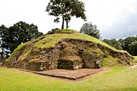 The ruins of Iximche near Tecpan, Guatemala, Central America