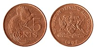 Trinidad and Tobago coin 1997 year