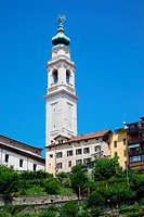 Duomo of San Martino and Juvarra bell tower, Belluno, Province of Belluno, Veneto, Italy, Europe