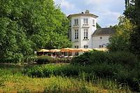 D-Krefeld, Rhine, Lower Rhine, Rhineland, North Rhine-Westphalia, NRW, D-Krefeld-Bockum, Grotenburgschloesschen in the zoological garden Krefeld, Grot...