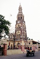 A church at Karaikal,Pondichery,Puducherry, Union Territory of India former French colony  The town of Karaikal is the second largest region of the Un...