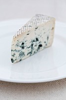French blue cheese on a white plate