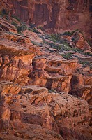 Colorful sandstone in Canyon de Chelly