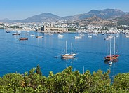 Bodrum, Turkey. Harbour and Castle of St. Peter.
