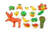 colorful multicolor funny biscuits shapes