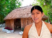 Latin hispanic mayan woman portrait