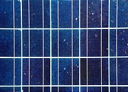 blue solar energy plate detail