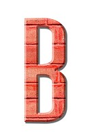 brick style Letter alphabet