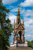 The Albert Memorial is situated in Kensington Gardens, London, England