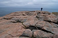 Rocky Coast, Green Cove, Cape Breton Highlands Nat Park, Nova Scotia, Canada, Weathered Granite Shore