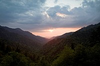 Sunset from Morton Overlook, Great Smoky Mtns Nat Park, TN