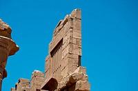 Ancient ruins wall in Karnak Temple