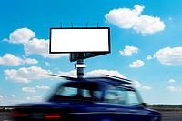 Billboard and vehicle speed on