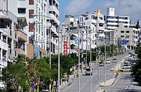 Naha, Okinawa, Japan, road in Yorimiya neighborhood