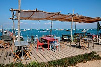 France, seafood restaurant in L Herbe in Bassin d Arcachon