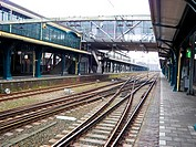 Railway station. driveways