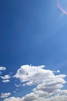 white cloud against blue sky