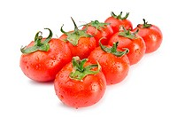 Fresh tomatoes isolated on the white