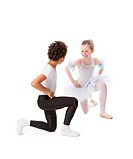 interracial children dancing together