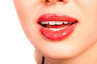 close_up of beautiful woman lips