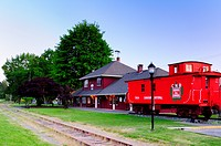 The city of Duncan's train station along with a Canadian National caboose