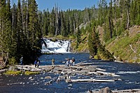Lewis Falls, Yellowstone National Park, Wyoming, USA