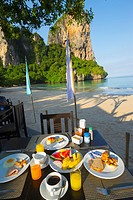 Breakfast  Railay Bay Resort & Spa hotel  Railay West Beach  Railay  Krabi province, Thailand