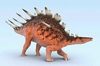 Model of a Kentrosaurus dinosaur.
