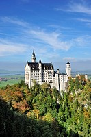 View of Neuschwanstein Castle, Oberallgaeu, Bavaria, Germany