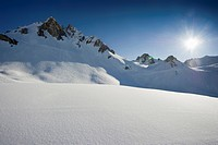 Snow_capped mountain, Tignes, Val d Isere, Savoie department, Rhone_Alpes, France