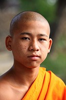 Potrait of the young Monk, Shan State, Myanmar, burma