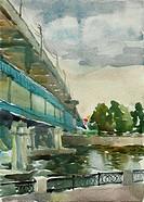 Moscow merto bridge