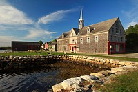 The waterfront with historic buildings at Shelburne, Nova Scotia, Canada