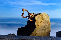 Comb of winds, Peine del Viento sculpture by Eduardo Chillida, San Sebastian, Donostia, Guipuzcoa, Basque Country, Spain