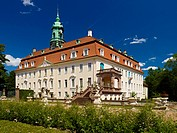 Lichtenwalde Castle with Baroque garden, Saxony, Germany