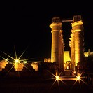 Temple of Luxor Hypostyle Hall at night, Luxor
