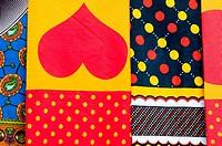 textile stall, namialo, Mozambique