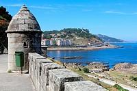 Monterreal castle, Baiona, Pontevedra, Galicia, Spain.