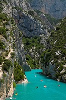 Boating in Gorges du Verdon, Alpes de Haute Provence, France