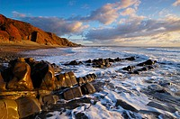 Sandymouth on the North Cornwall coast, Bude, Cornwall, England, United Kingdom