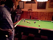 Pool game at the Bolero Bar, Harare, Zimbabwe